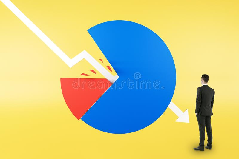 Crisis and financial losses concept stock photography