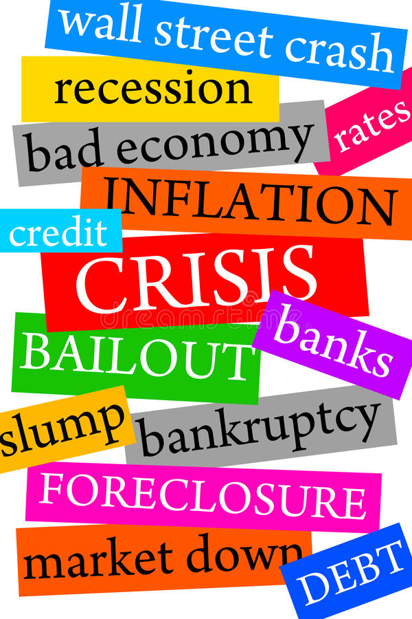 Crisis financiera ilustración del vector