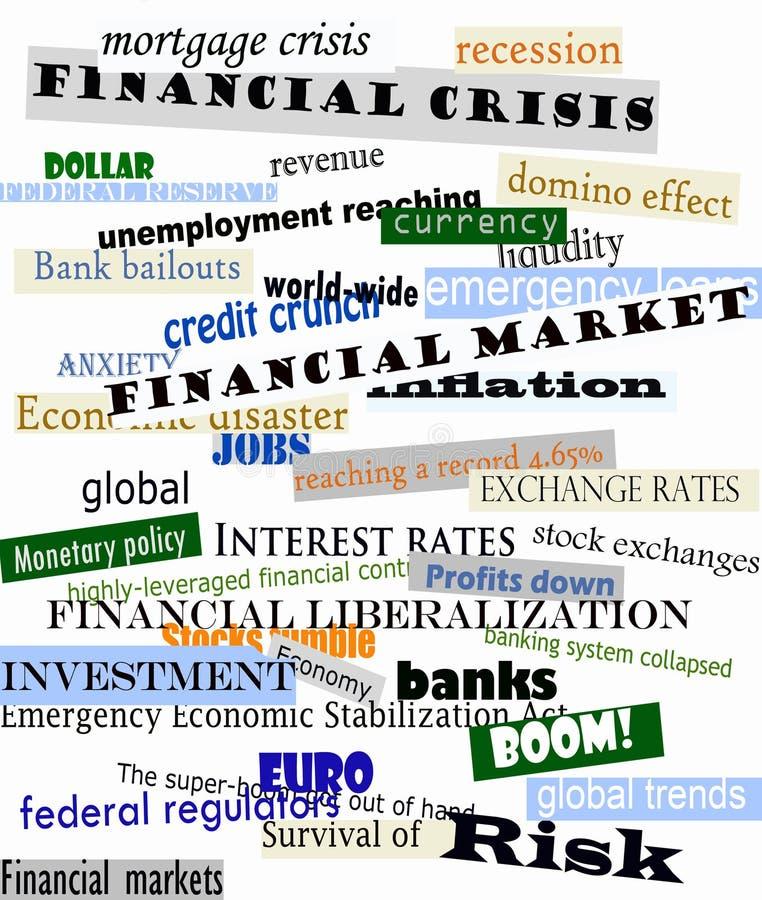 Crisis financiera stock de ilustración