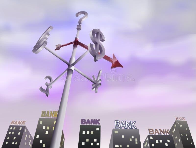 Crisis financiera del mundo stock de ilustración