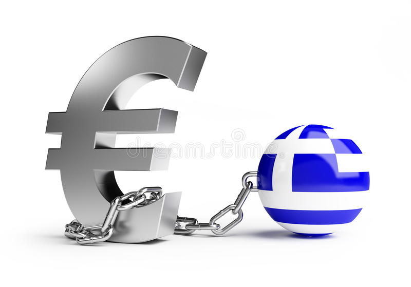 Crisis greece vector illustration