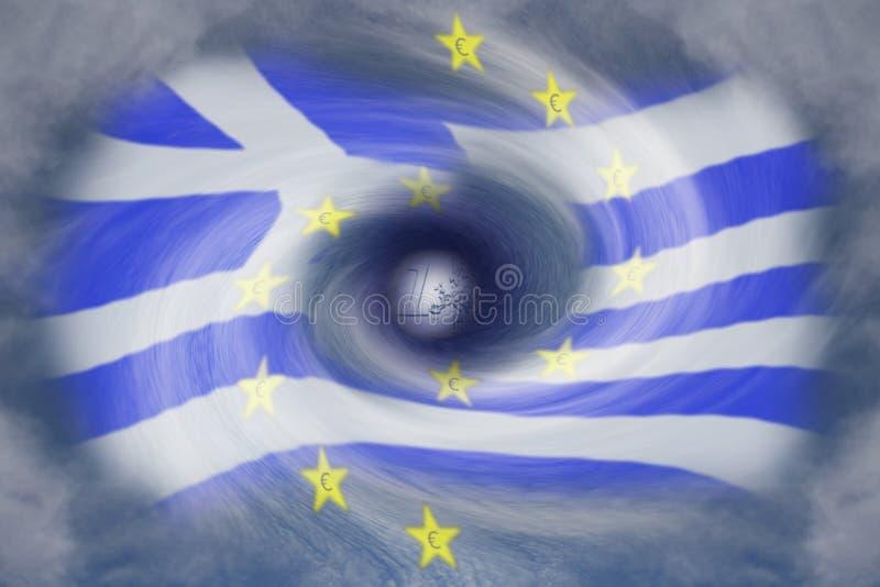 Crisis griega de la deuda imagen de archivo libre de regalías
