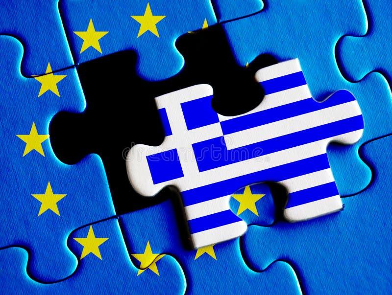 Crisis griega de la deuda stock de ilustración