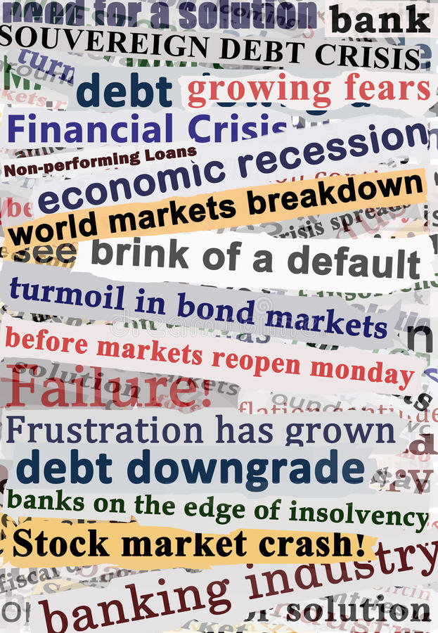 Download Crisis Headlines stock photo. Image of crash, fears, default - 20490886