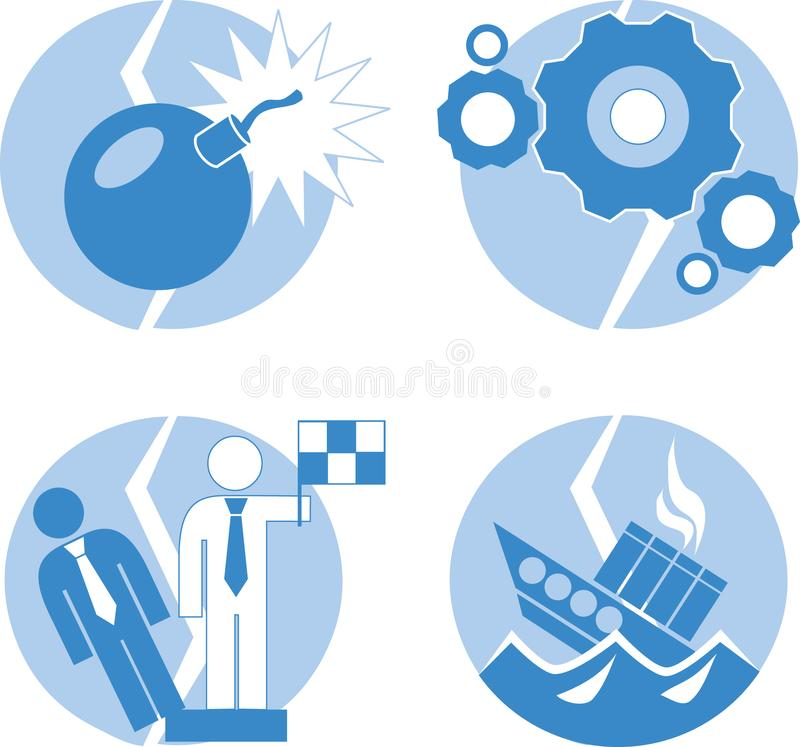 Download Crisis icon stock vector. Illustration of bomb, force - 8033629