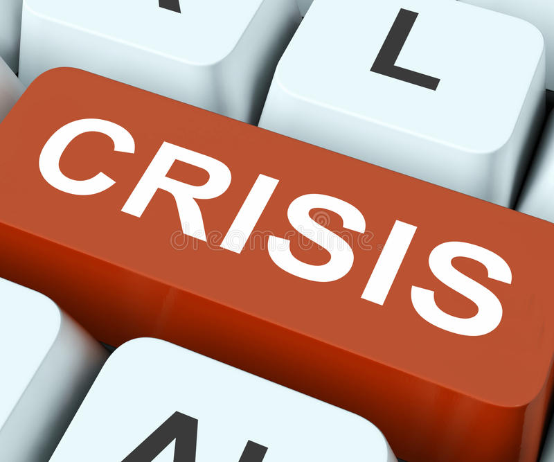 Download Crisis Key Means Calamity Or Situation Stock Photo   Image Of  Keyboard, Online: