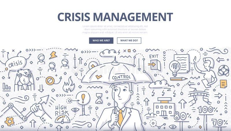 Crisis Management Doodle Concept royalty free illustration