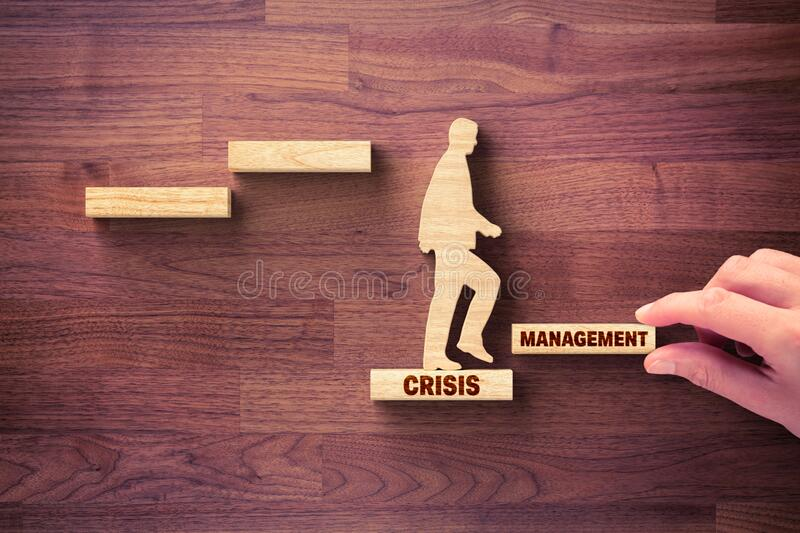 Crisis manager helps to growth after crisis royalty free stock images