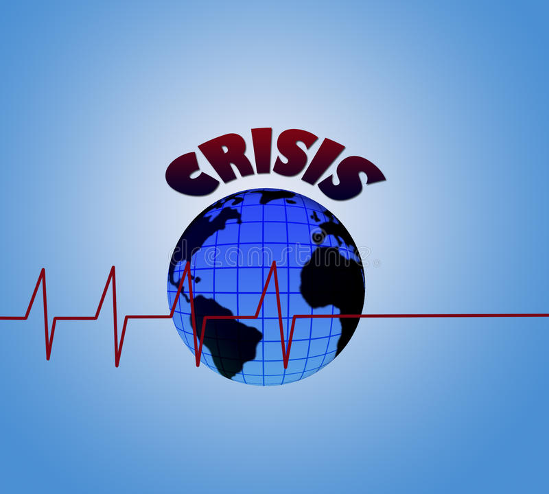 Crisis mundial foto de archivo