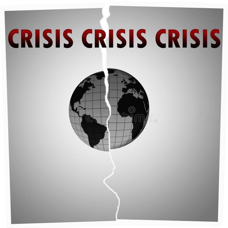Crisis mundial imagen de archivo