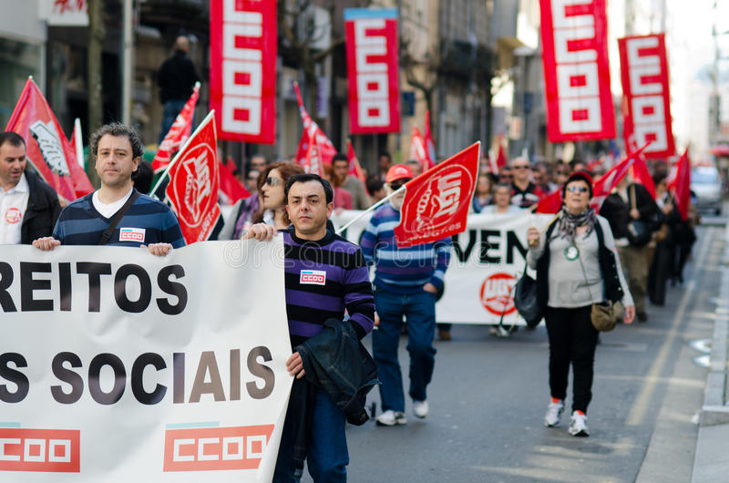 Crisis in Spain stock photography