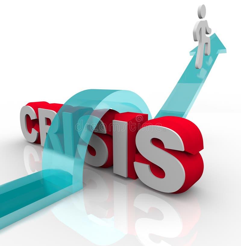 Crisis - superación de una emergencia libre illustration