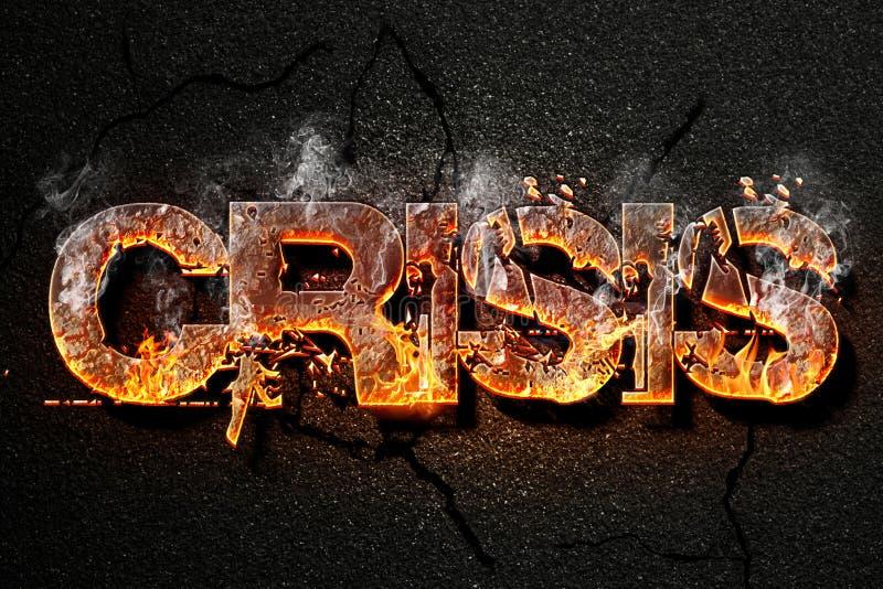 Crisis text stock image