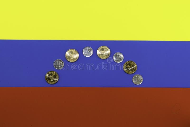 Crisis in Venezuela gestileerde vlag van Venezuela stock afbeelding