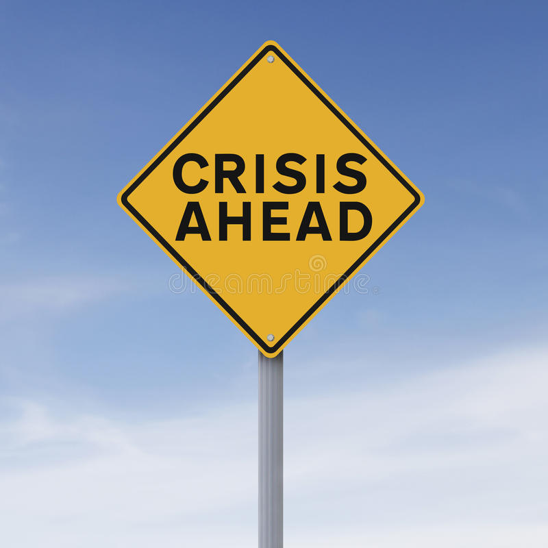 Crisis vooruit royalty-vrije stock foto