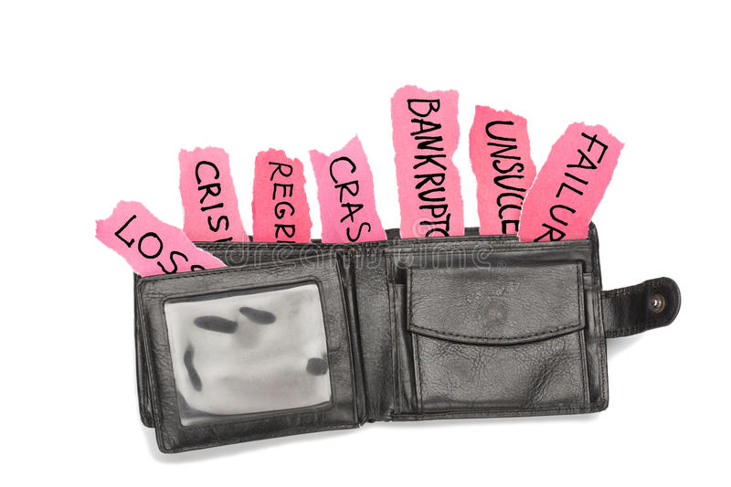 Download Crisis wallet on white stock photo. Image of needs, despair - 23543324