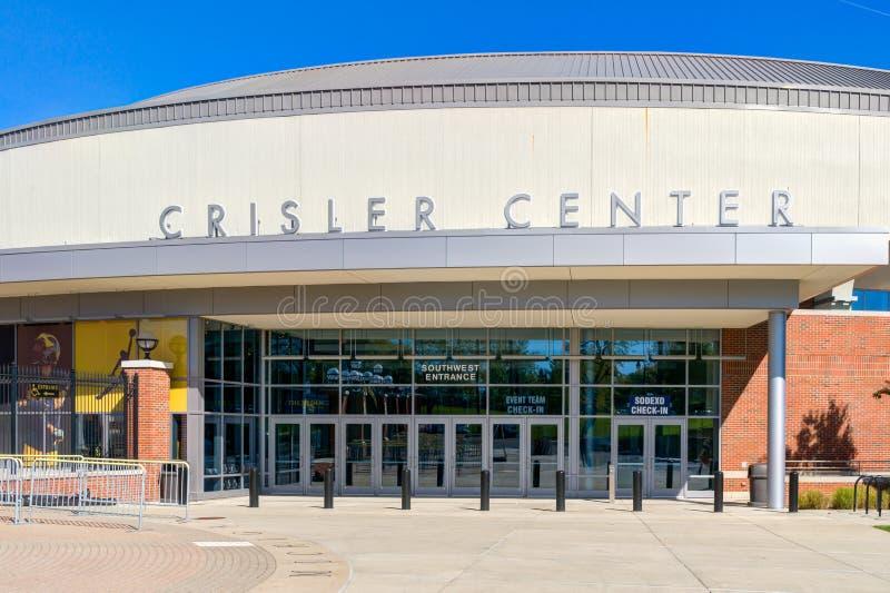 Crisler centrum przy uniwersytet michigan fotografia royalty free