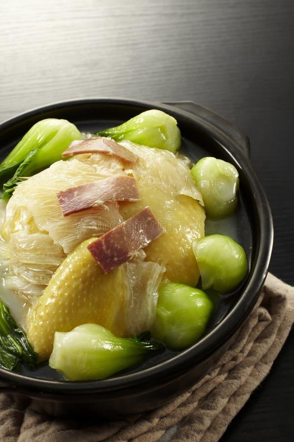 Crisol chino del pollo del alimento fotos de archivo