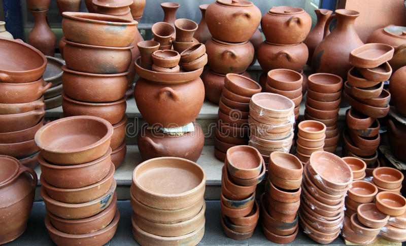 Crisol de Anatolia de la loza de barro imagen de archivo libre de regalías