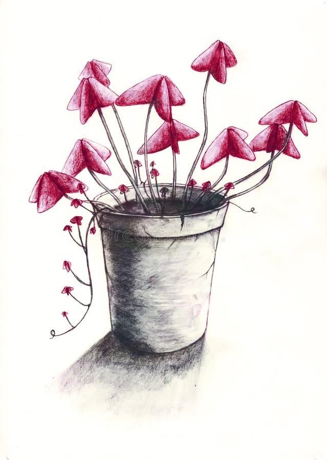 Crisol de flor 2 stock de ilustración