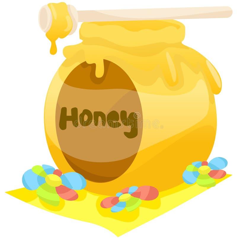 Crisol de la miel ilustración del vector