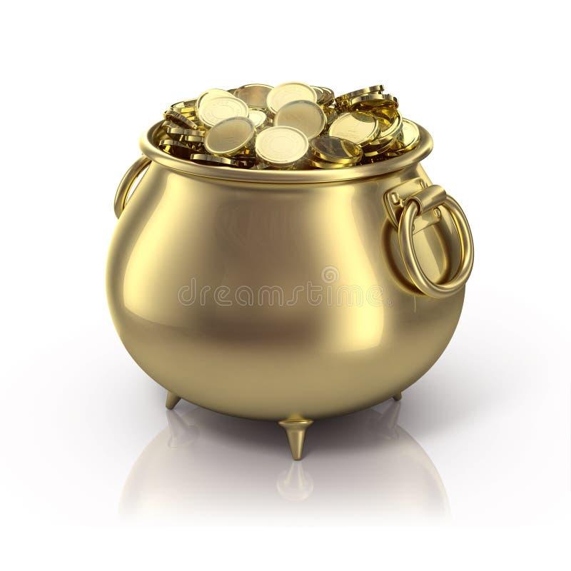 Crisol de oro stock de ilustración