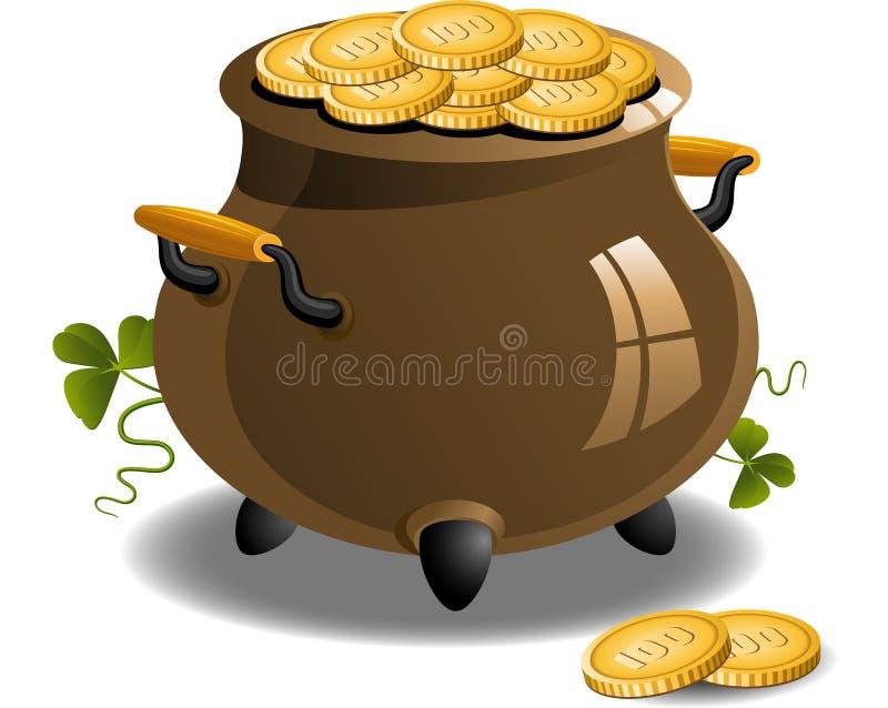 Crisol de oro (día del St. Patrick) libre illustration
