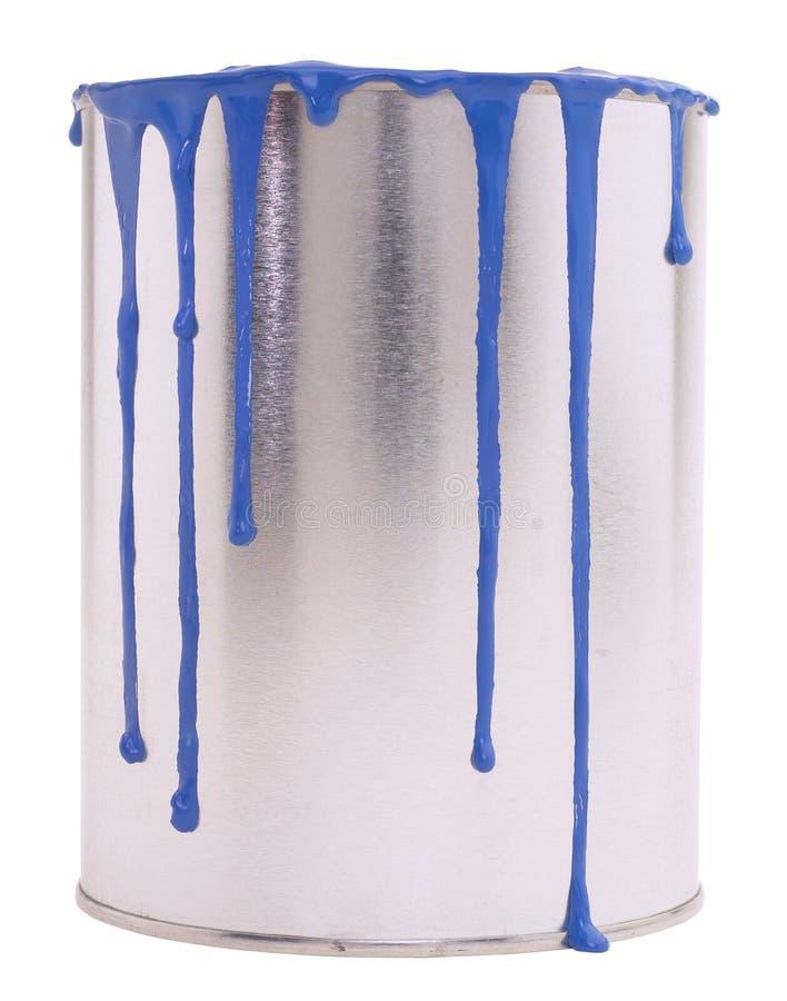 Crisol de pintura azul imagen de archivo libre de regalías