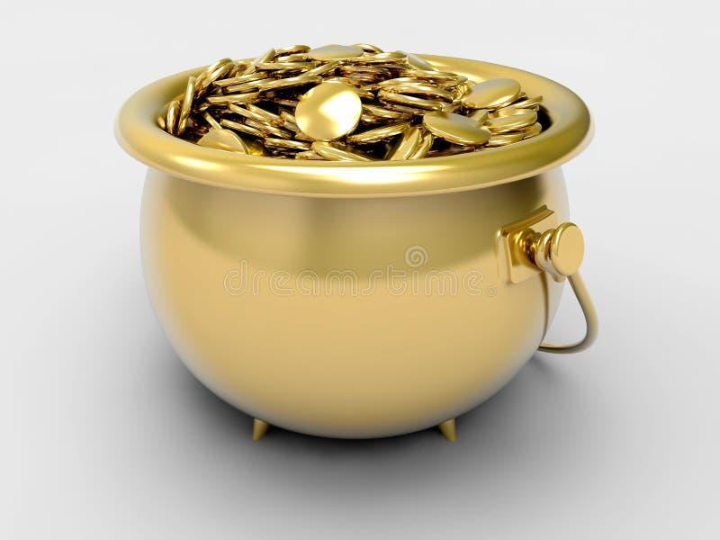Crisol del oro ilustración del vector