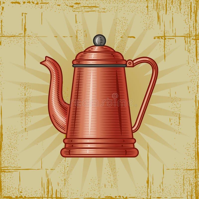 Crisol retro del café ilustración del vector