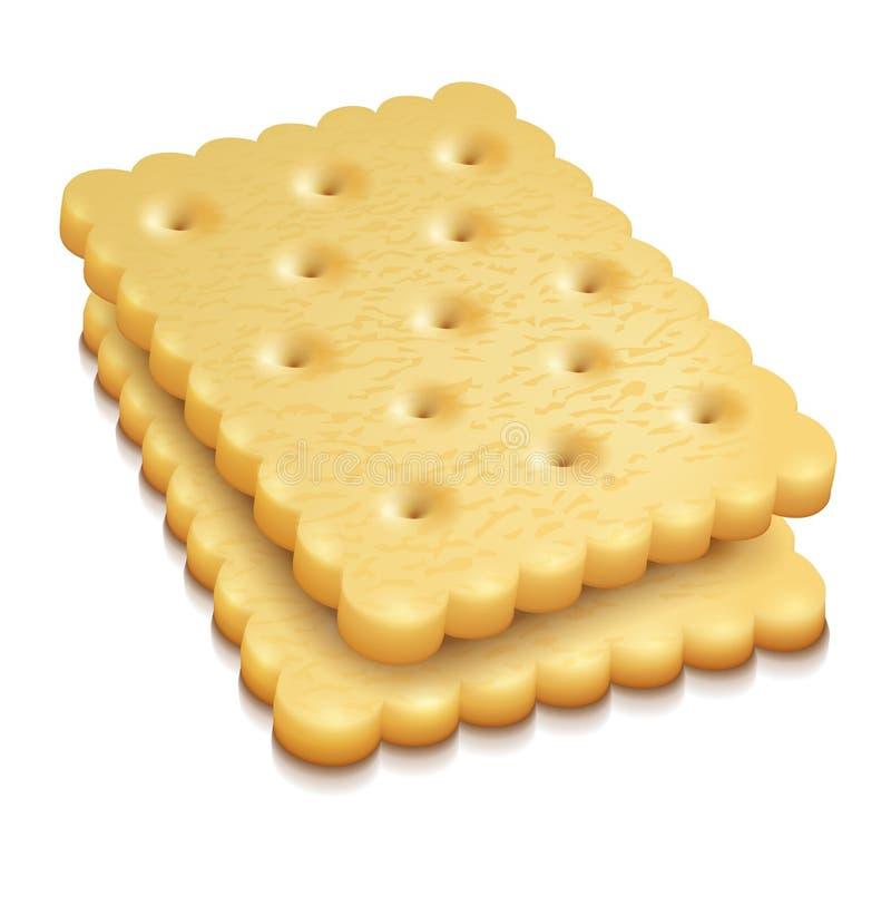 Crisp cookies snacks vector illustration