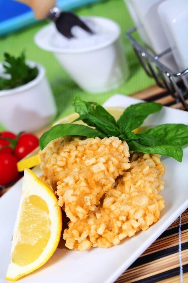 Download Crisp fish stock photo. Image of lemon, risotto, tomato - 24472400