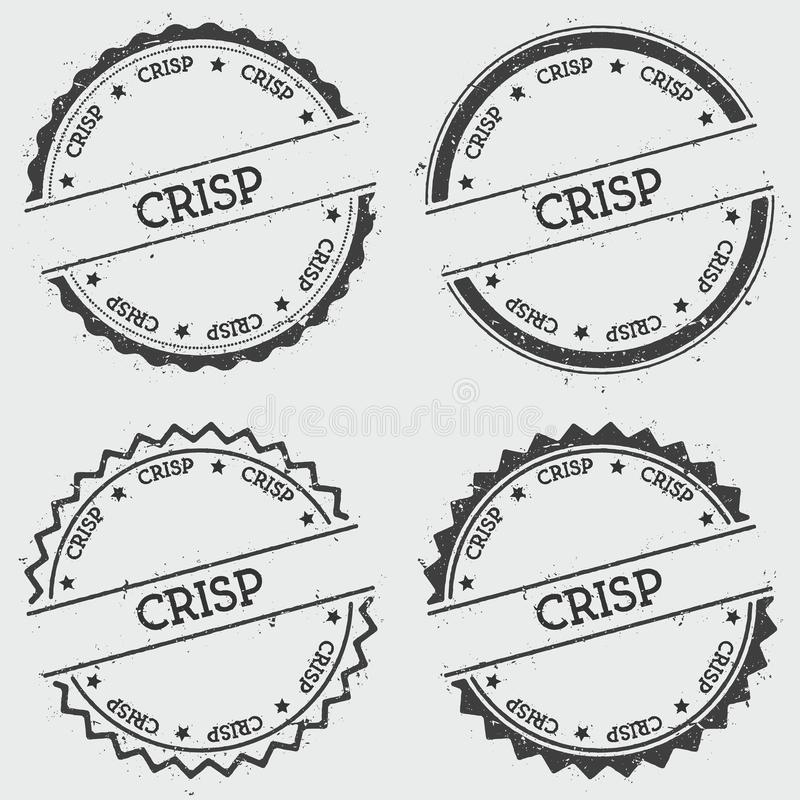 Crisp insignia stamp isolated on white background. vector illustration