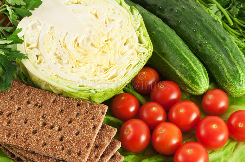 Crisp with vegetables stock photography