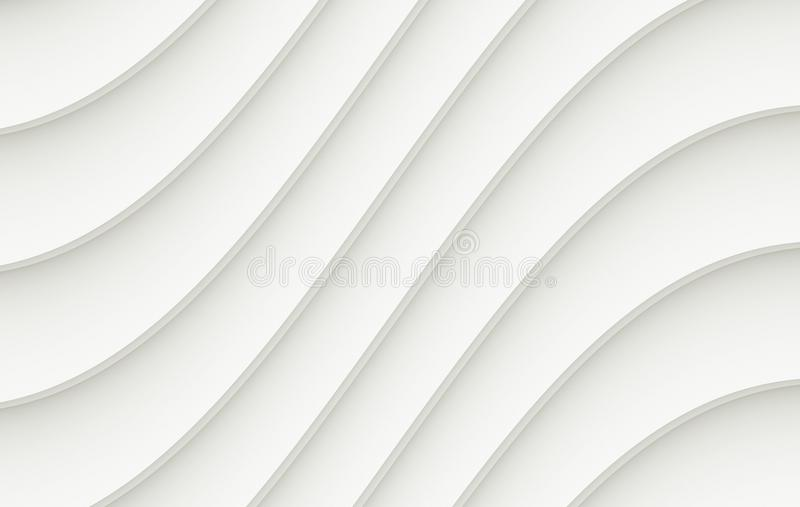 Crisp White Gray Curves Lines Abstract Vector Background Illustration royalty free illustration