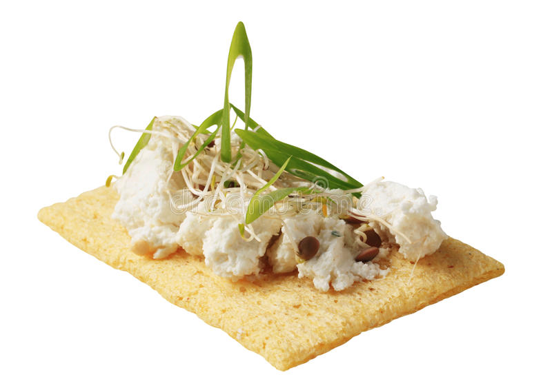 Crispbread And Cheese Royalty Free Stock Photos