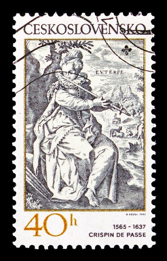 Crispin de Passe 1565-1637, musikalische Themen von alten Stichen s stockfotos