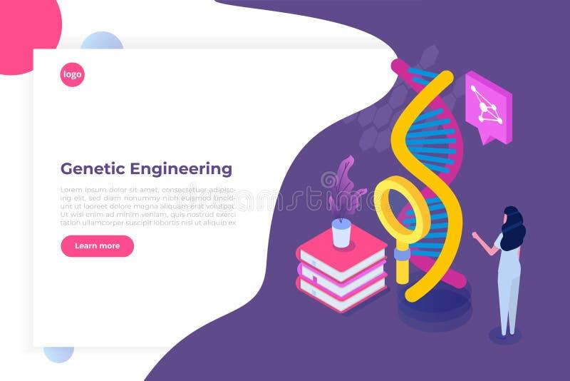 CRISPR CAS9 - Genetic Engineering Isometric Concept. Stock ...