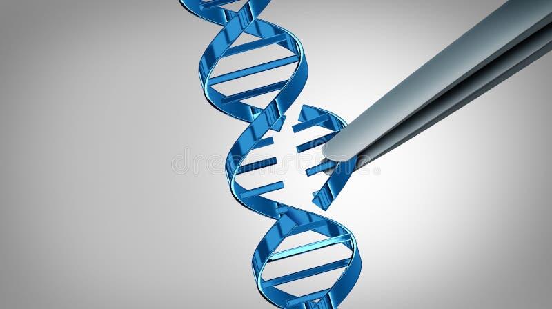 CRISPR Gene Edit illustration stock
