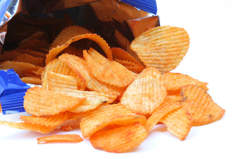 Download Crisps stock photo. Image of background, calories, crispy - 4468926