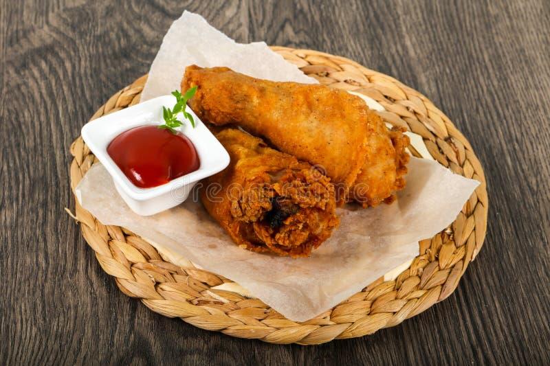Crispy chicken legs royalty free stock photo