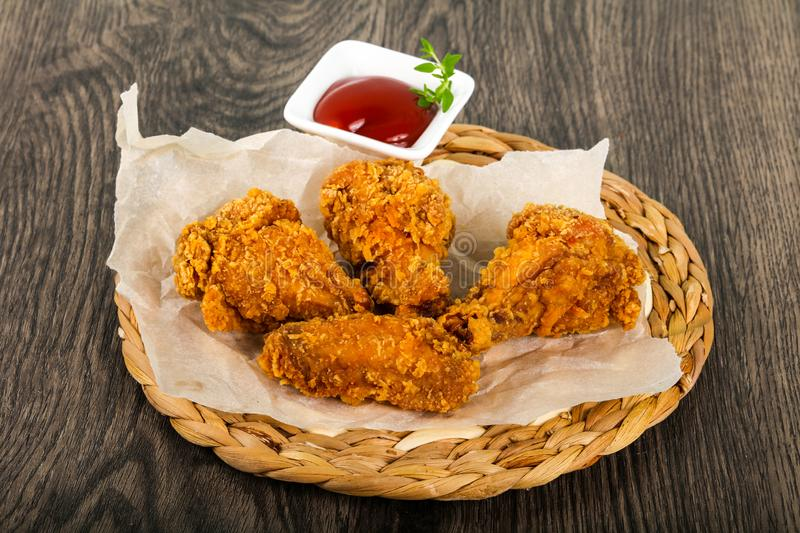 Crispy chicken wings stock images