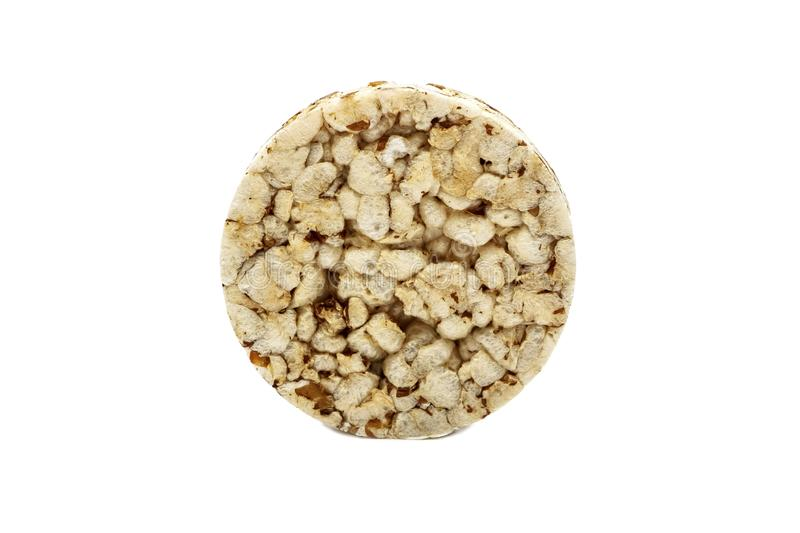Crispy crispbread with buckwheat, rice and oatmeal isolated on white background. Crisp dietary fitness bread. Food for weight loss.  royalty free stock images