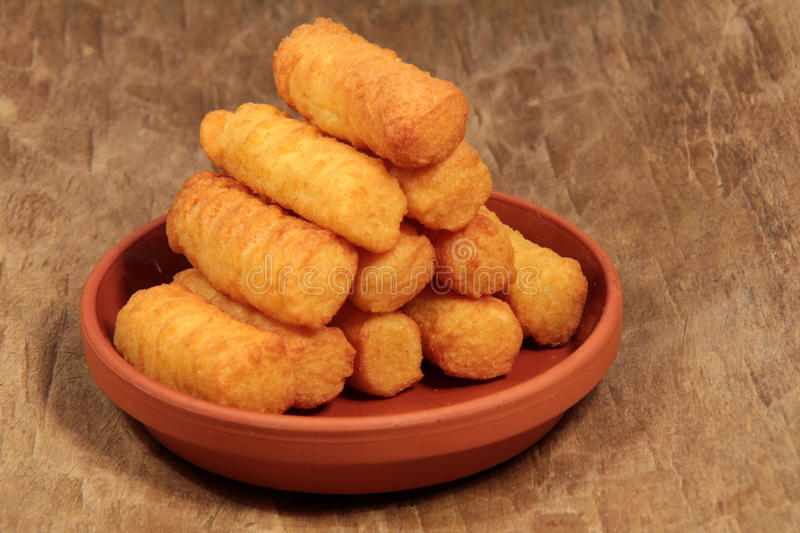 Crispy croquettes royalty free stock images