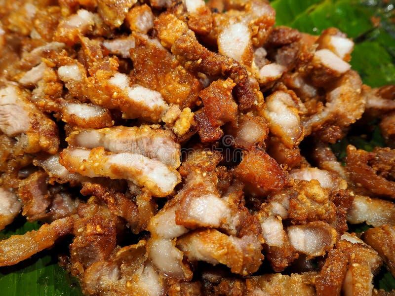 Crispy Deep-Fried Pork Belly stock photo