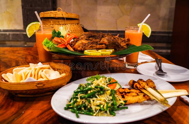 Crispy duck at Ubud, Bali, Indonesia. Dirty Duck royalty free stock photo