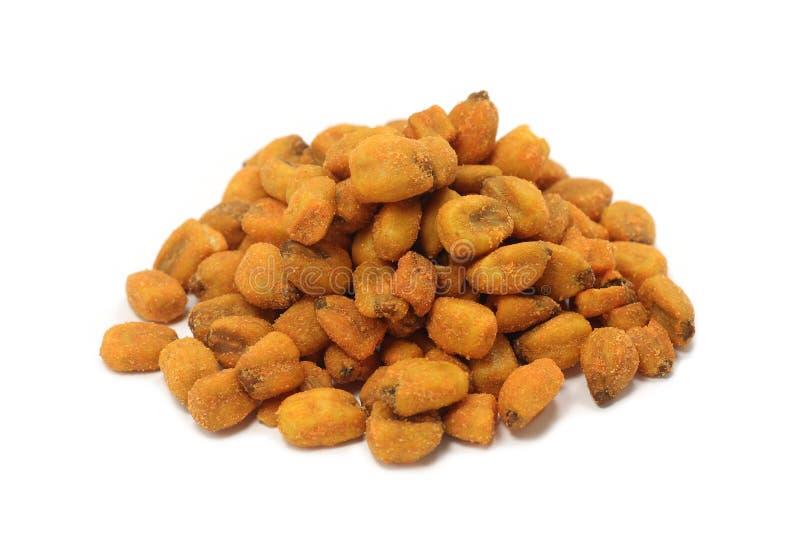 Crispy fried corn grain royalty free stock image