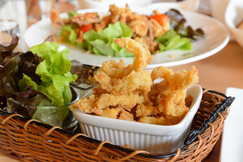 Crispy fried shrimp stock photo