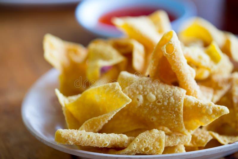 Crispy fried wonton royalty free stock photos