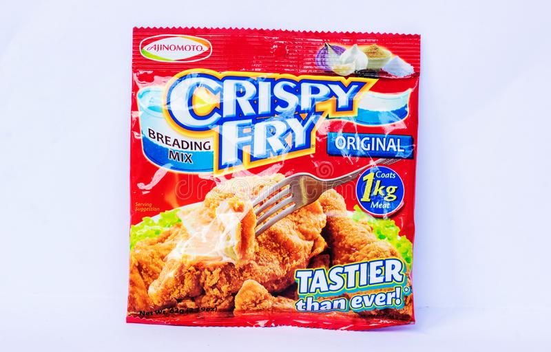 Crispy Fry Breading Mix. Camarines Sur, PHILIPPINES - JAN. 27, 2017. A close-up photo of Crispy Fry Breading Mix, original flavor by Ajinomoto Company from the stock photos